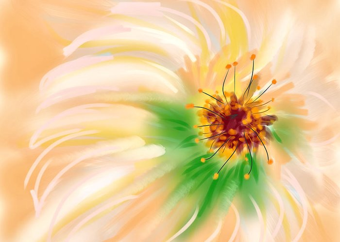 Ipad Greeting Card featuring the painting Spring Flower by Angela Stanton