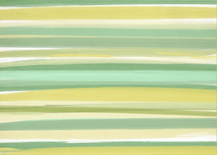 Light Green Greeting Card featuring the painting Spring Green by Lourry Legarde