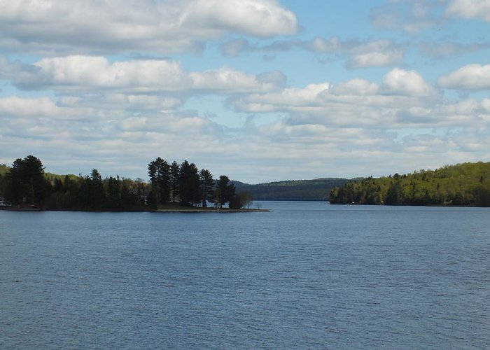 New England Greeting Card featuring the photograph Spring Lake by Gene Cyr