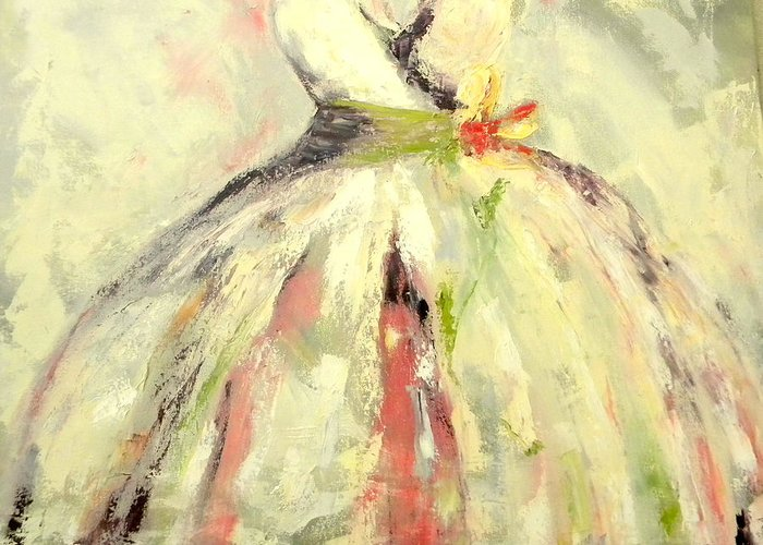 Dress Greeting Card featuring the painting Spring Part by Lisa Moore
