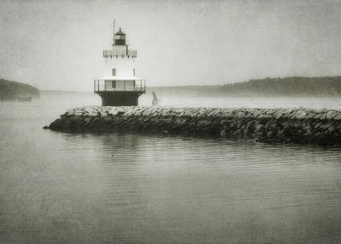 Bay Greeting Card featuring the photograph Spring Point Ledge Light by Joan Carroll
