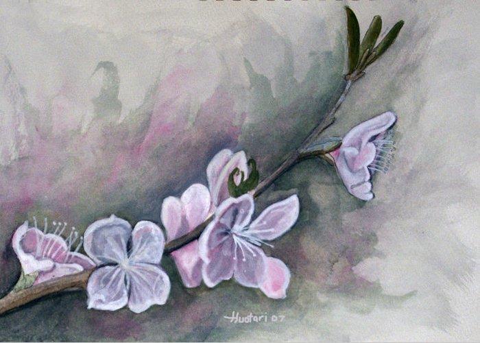 Rick Huotari Greeting Card featuring the painting Spring Splendor by Rick Huotari