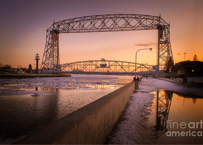 Duluth Greeting Card featuring the photograph Spring Sunset In Canal Park by Ever-Curious Photography
