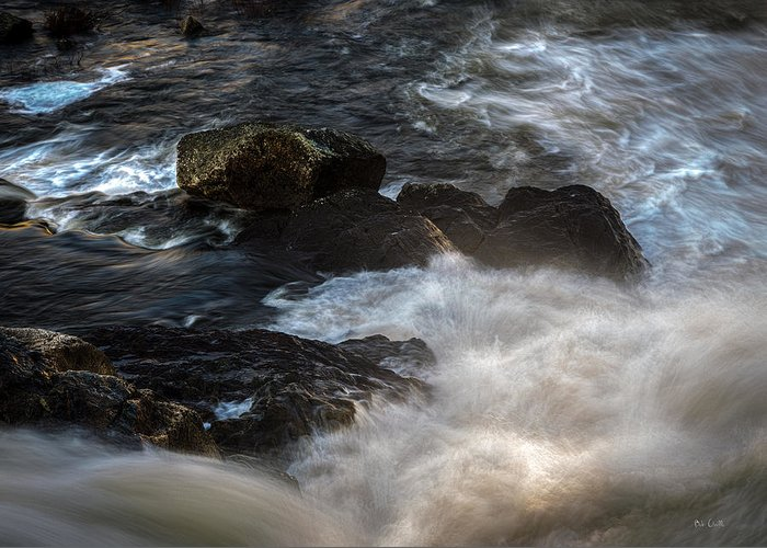 River Greeting Card featuring the photograph Spring Thaw II by Bob Orsillo