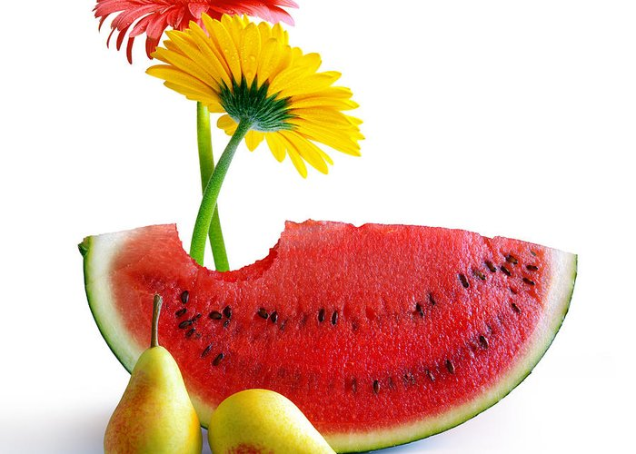 Arrangement Greeting Card featuring the photograph Spring Watermelon by Carlos Caetano