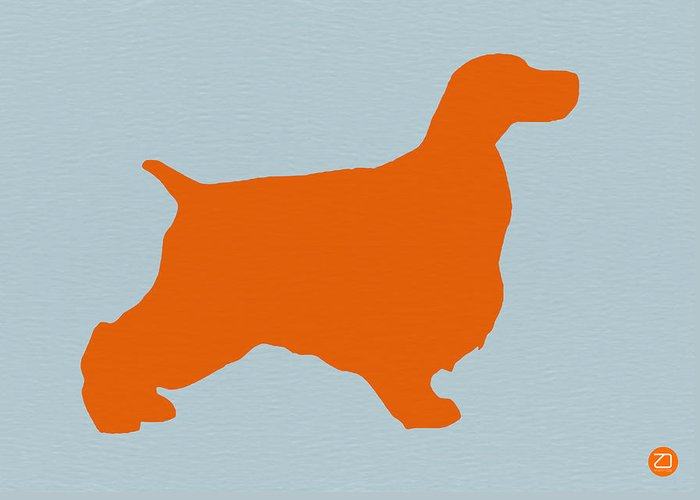 Springer Spaniel Greeting Card featuring the photograph Springer Spaniel Orange by Naxart Studio