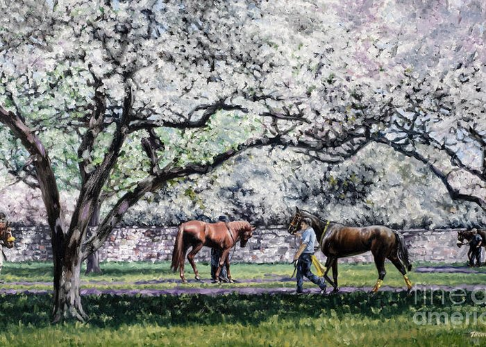 Thoroughbred Race Horse Greeting Cards
