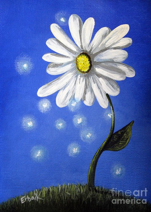 Daisies Greeting Card featuring the painting Springtime Fairies By Shawna Erback by Shawna Erback