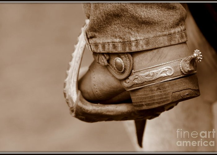 Cowboy Greeting Card featuring the photograph Spur by Bill Keiran