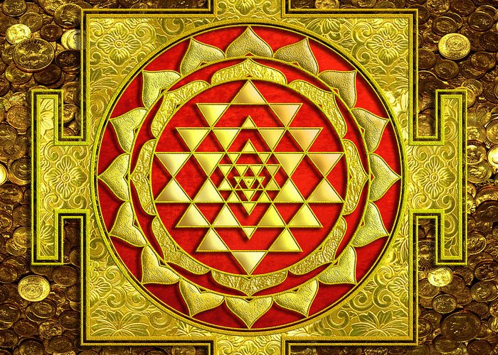 Sacred Geometry Mixed Media Greeting Cards