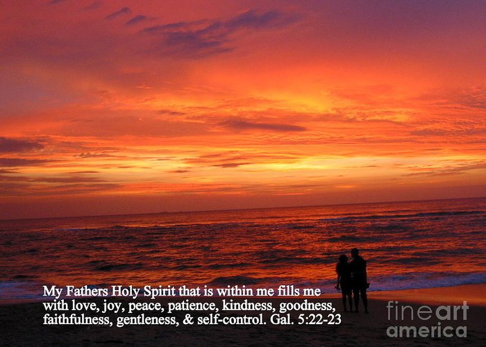 Galations 5:22-23 Greeting Card featuring the photograph Sri Lankan Sunset by Las Ratnayake
