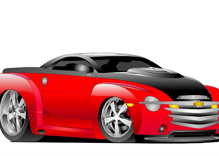 Chevrolet Greeting Card featuring the digital art Ssr Toon by Lyle Brown
