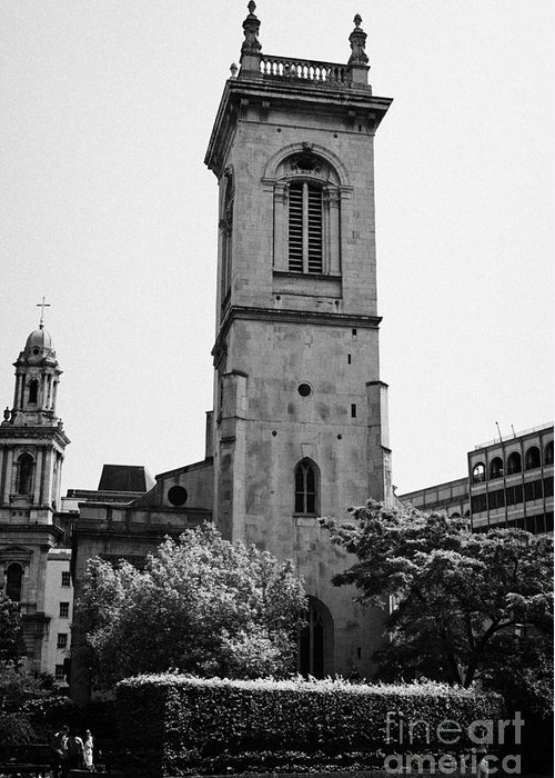 Saint Greeting Card featuring the photograph st andrew church holborn London England UK by Joe Fox