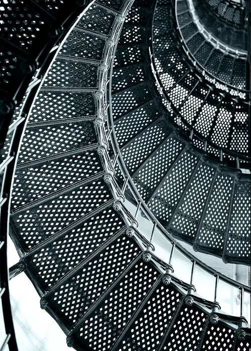 Saint Greeting Card featuring the photograph St Augustine Lighthouse Staircase by Christine Till