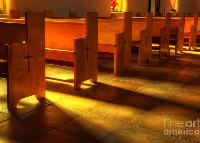 Church Greeting Card featuring the photograph St Francis De Paula Shadow And Light by Bob Christopher