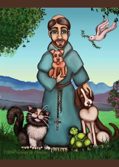 Patron Saint Of Animals Greeting Cards