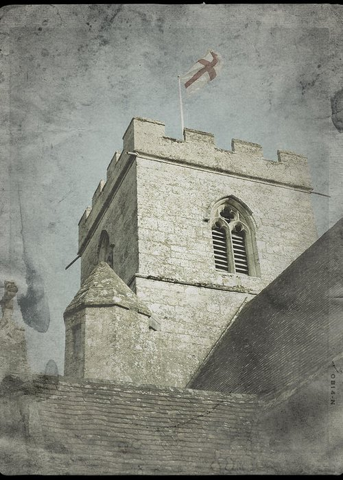 St Georges Flag Greeting Card featuring the photograph St Georges Flag by John Colley