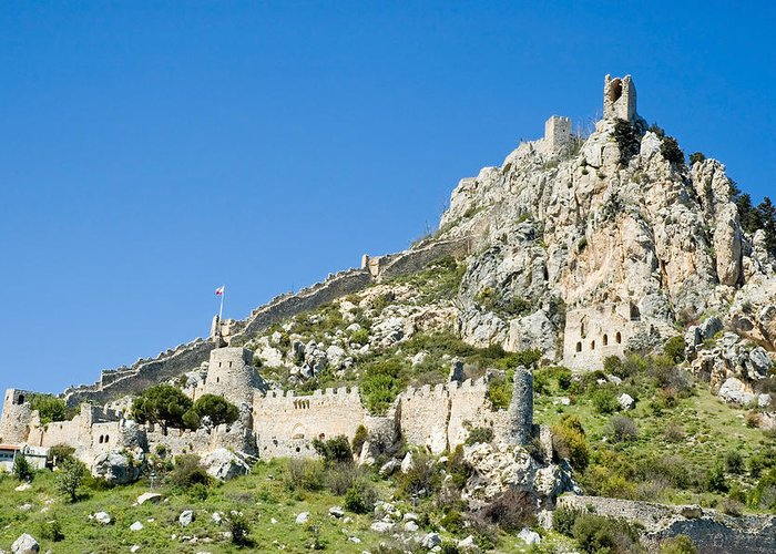 Cyprus Greeting Card featuring the photograph St Hilarion Castle by Jeremy Voisey