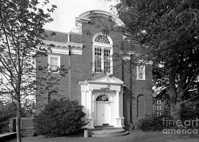 Annapolis Greeting Card featuring the photograph St. John's College Annapolis Randall Hall by University Icons