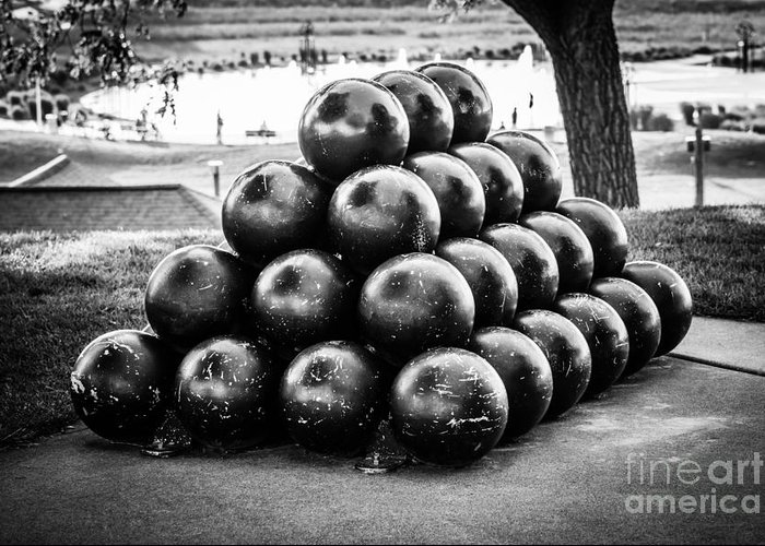 America Greeting Card featuring the photograph St. Joseph Michigan Cannon Balls Picture by Paul Velgos