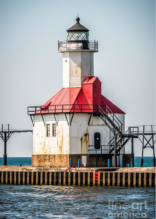 America Greeting Card featuring the photograph St. Joseph Michigan Lighthouse Picture by Paul Velgos