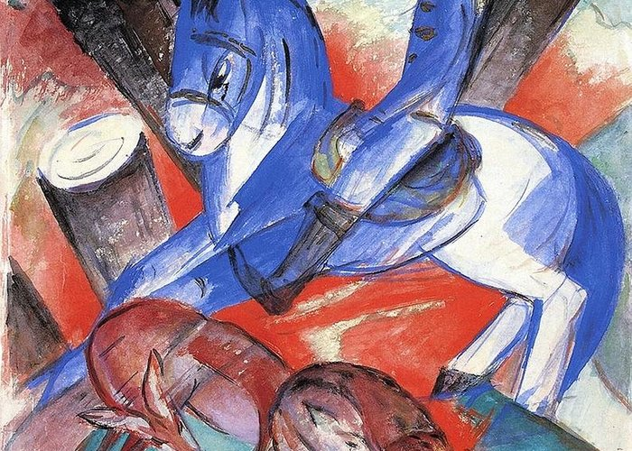 Franz Greeting Card featuring the painting St Julian 1913 by Franz Marc