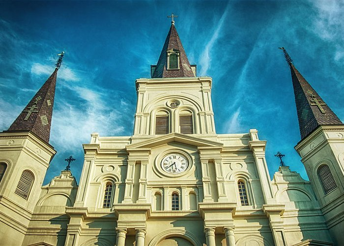 St. Louis Cathedral Greeting Card featuring the photograph St. Louis Cathedral by Brenda Bryant