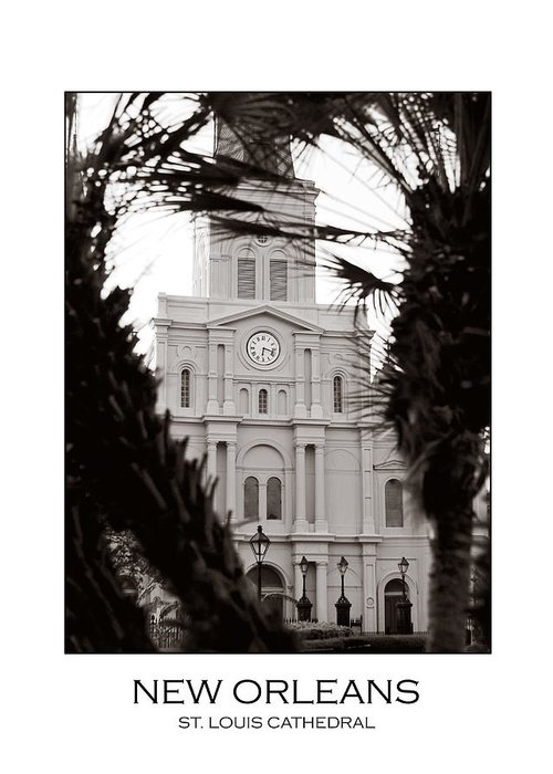 New Orleans Greeting Card featuring the photograph St. Louis Cathedral by Val Stone Creager