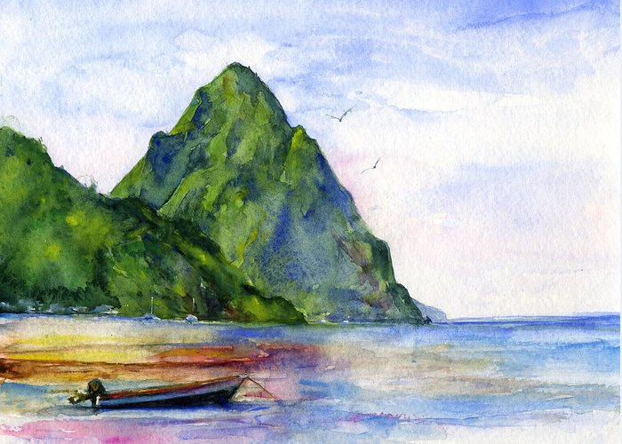 St Lucia Greeting Cards