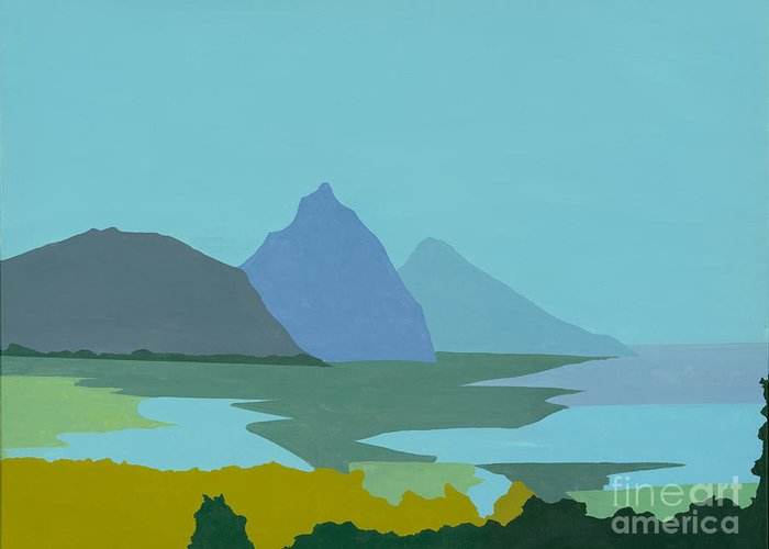 Canvas Prints Greeting Card featuring the painting St. Lucia - W. Indies II by Elisabeta Hermann