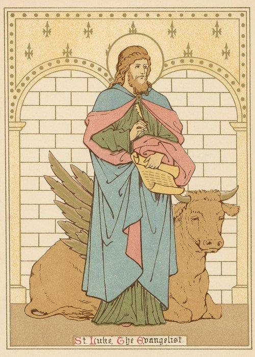 Saint Luke The Evangelist Drawings Greeting Cards