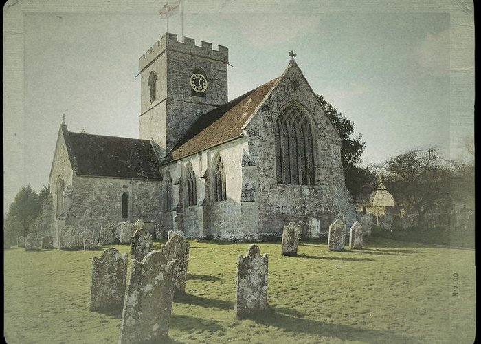 Church Greeting Card featuring the photograph St Marys Church Dinton And Churchyard by John Colley