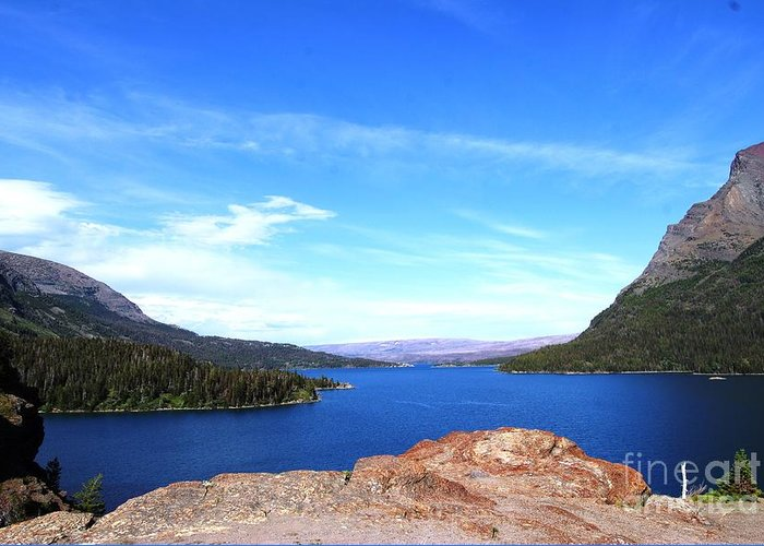 Lake Greeting Card featuring the photograph St. Mary's by Deanna Cagle