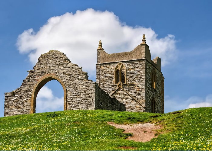 St-michael's-church Greeting Card featuring the photograph St Michael's Church - Burrow Mump 4 by Susie Peek