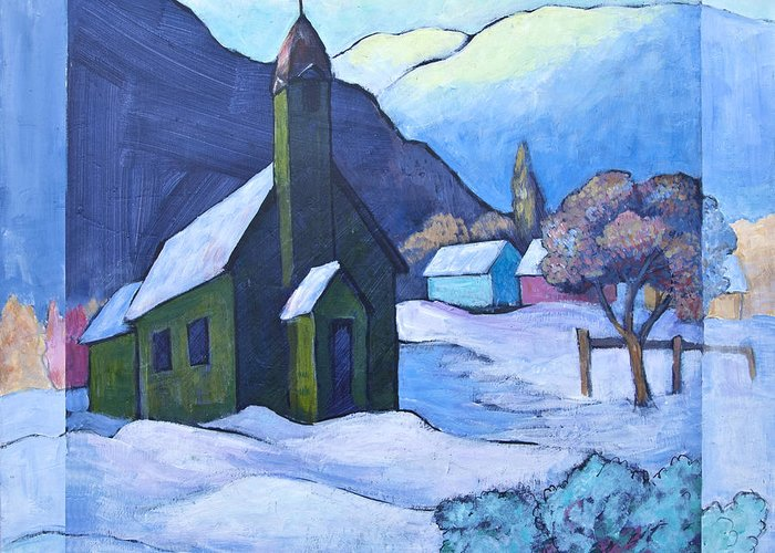 Painting Greeting Card featuring the painting St Michaels by Theresa Tahara