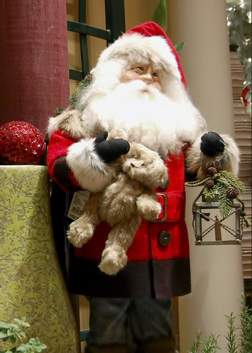 St Nick Greeting Card featuring the photograph St Nick Teddy Bear by Jon Berghoff