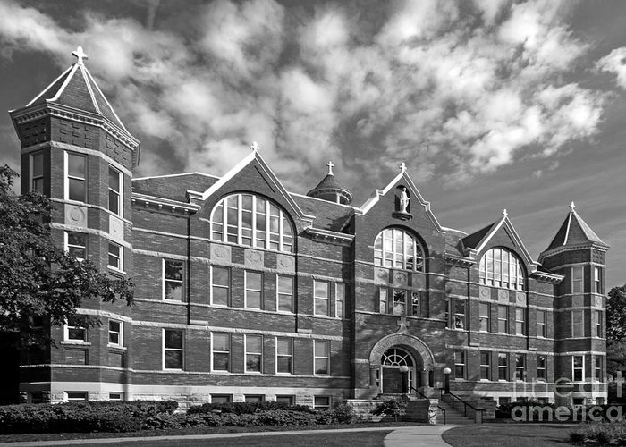 American Greeting Card featuring the photograph St. Norbert College Main Hall by University Icons