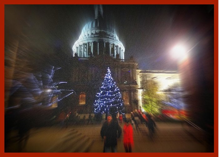 Christmas Greeting Card featuring the photograph St. Paul's Cathedral London by Monica Ellen Smith