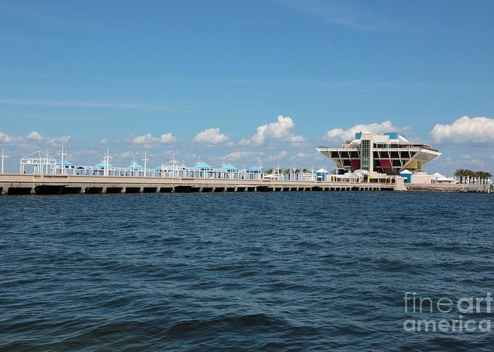 St Pete Greeting Card featuring the photograph St Pete Pier by Carol Groenen