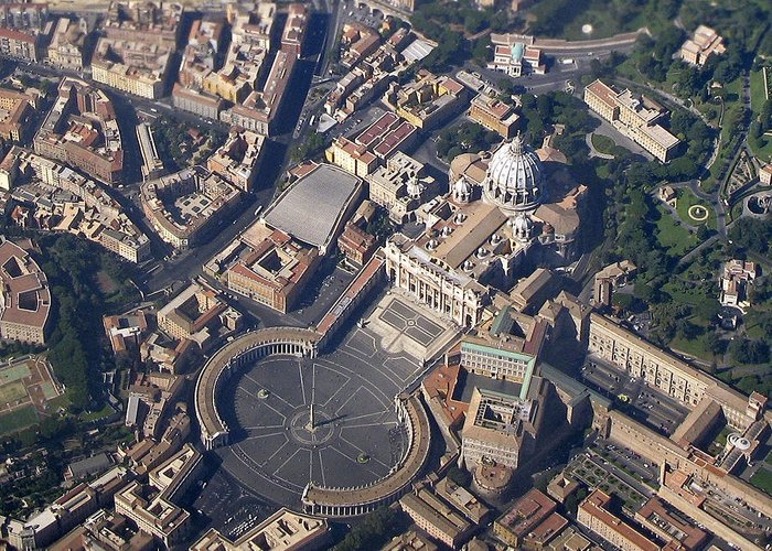 Saint Greeting Card featuring the photograph St. Peter's Basilica by Claudio Bacinello
