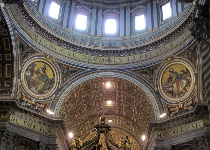 Travel Greeting Card featuring the photograph St. Peters Basilica Vatican City Rome Italy by Patricia E Sundik