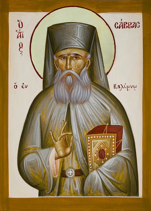 St Savvas Of Kalymnos Paintings Greeting Cards