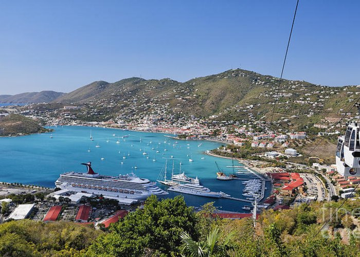 Scenic Greeting Card featuring the photograph St Thomas Panorama by George Oze