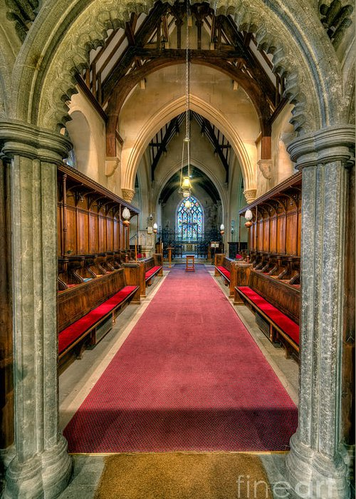 British Greeting Card featuring the photograph St Twrog Church by Adrian Evans