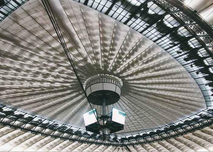 Ceiling Greeting Card featuring the photograph Stadium Ceiling by Pati Photography