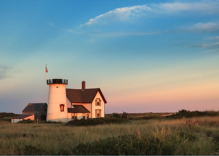 Cape Cod Greeting Card featuring the photograph Stage Harbor Lighthouse by Bill Wakeley