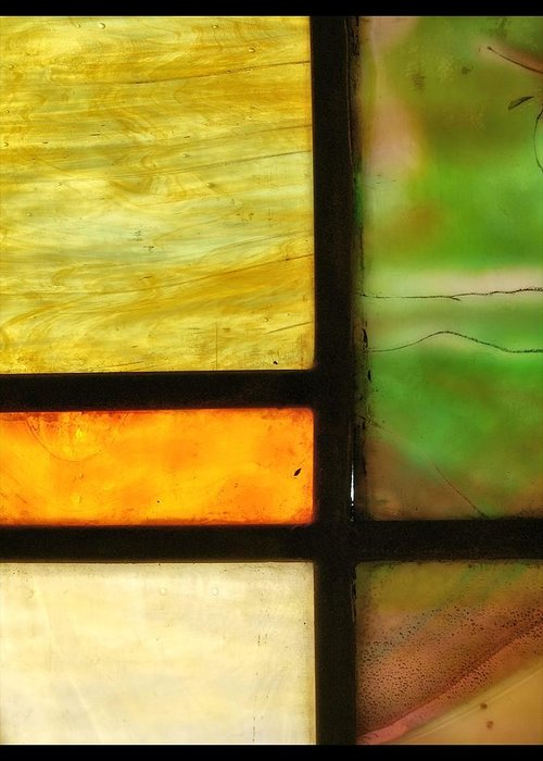 Stained Glass 5 Greeting Card featuring the photograph Stained Glass 5 by Tom Druin