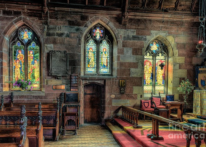 Aisle Greeting Card featuring the photograph Stained Glass by Adrian Evans