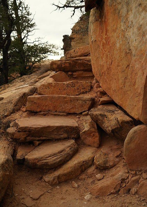 Stones Greeting Card featuring the photograph Stairs In The Desert by Jeff Swan