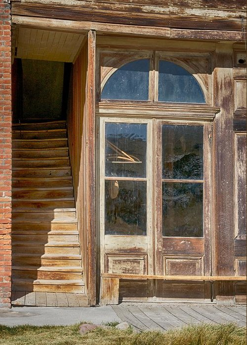 Bodie Greeting Card featuring the photograph Stairway To The Second Floor by Terry DeHart